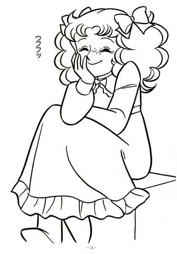 anime candy coloring pages - photo#2