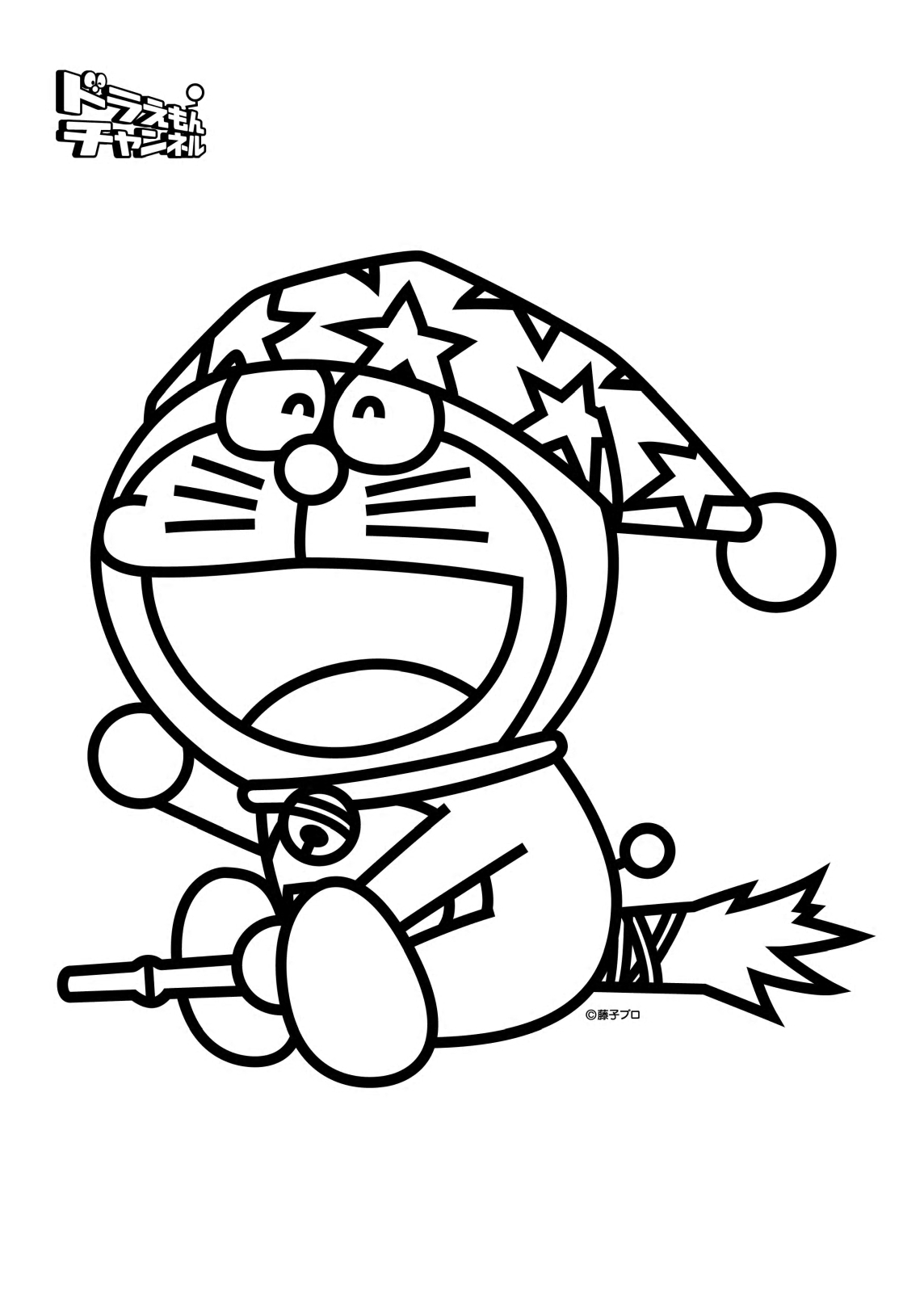 coloring book doraemon