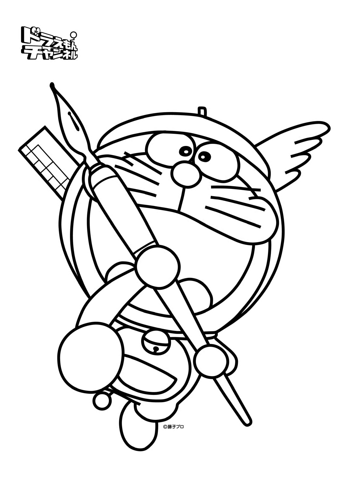 Coloring book doraemon for Disegni da colorare doraemon