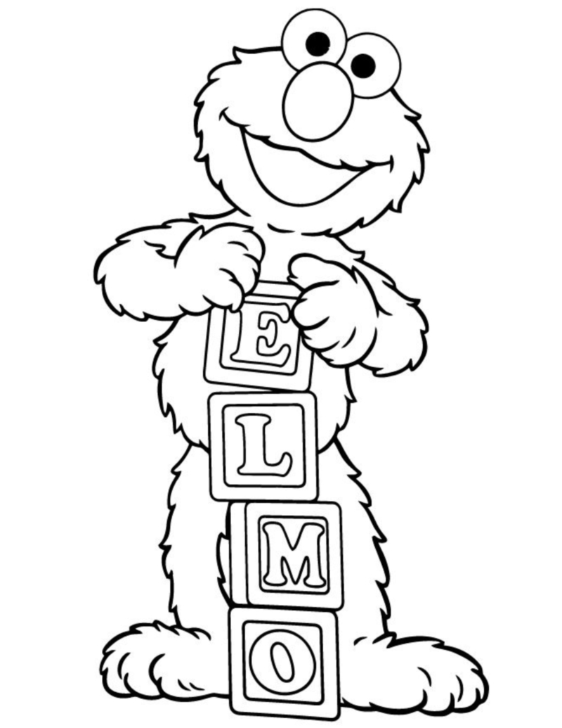 elmo coloring pages - coloring book elmo