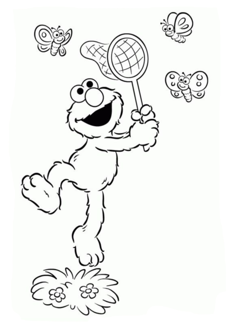 free coloring pages to print and color | Coloring Book - Elmo