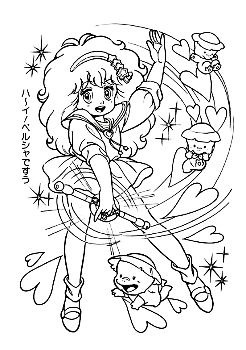 anime fairy coloring pages - photo#33