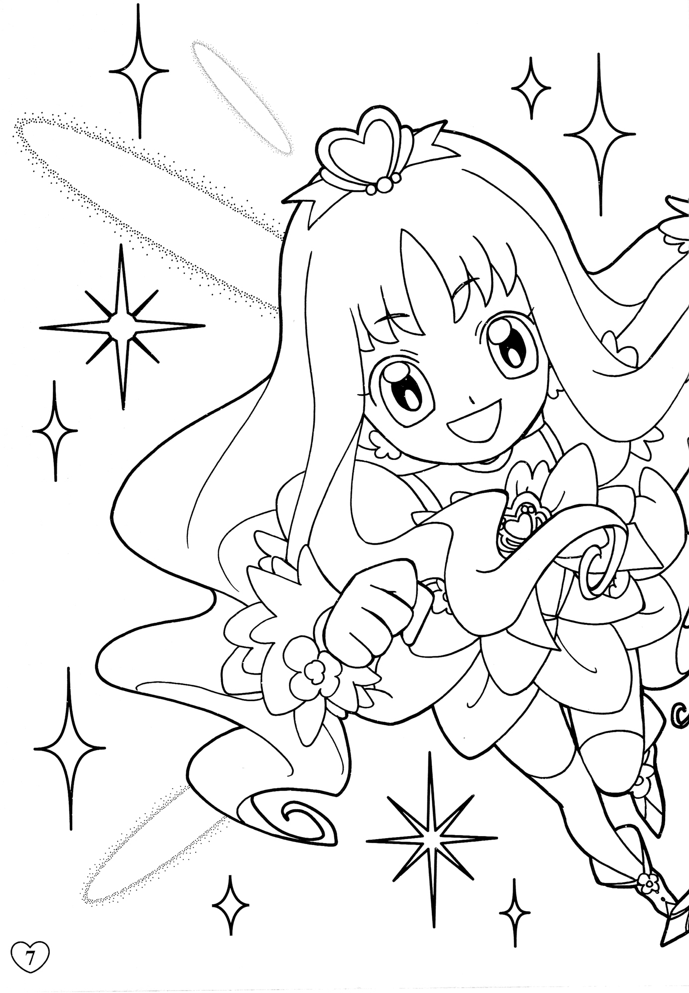 oasidelleanime precure coloring pages - photo #48