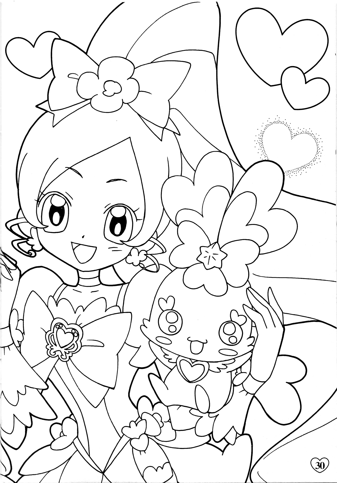 oasidelleanime precure coloring pages - photo #30