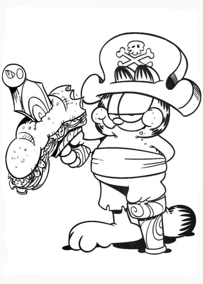 Coloring book garfield - Garfield dessin ...
