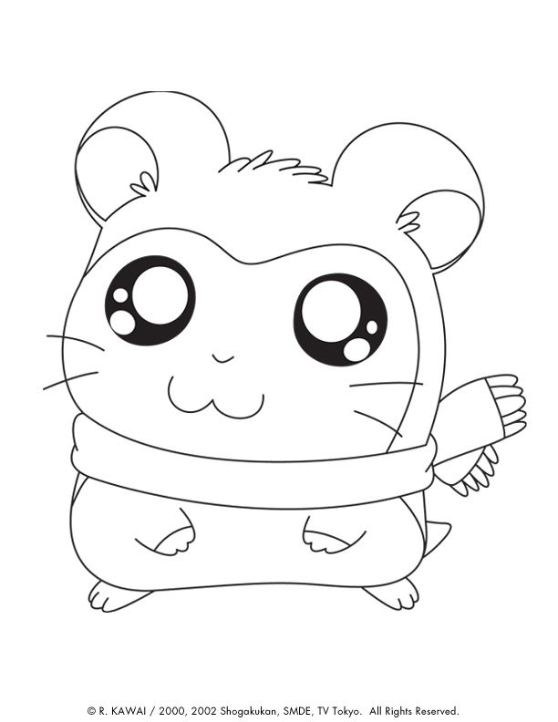 Coloring book hamtaro - Hamster dessin anime ...