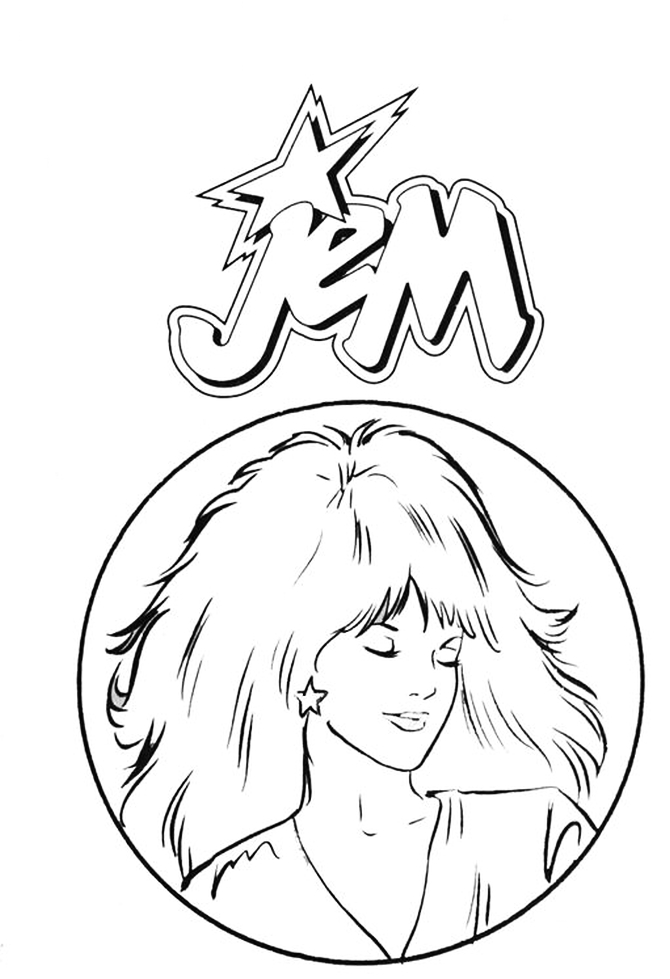 Coloring Book Jem E Le Holograms Jem Coloring Pages