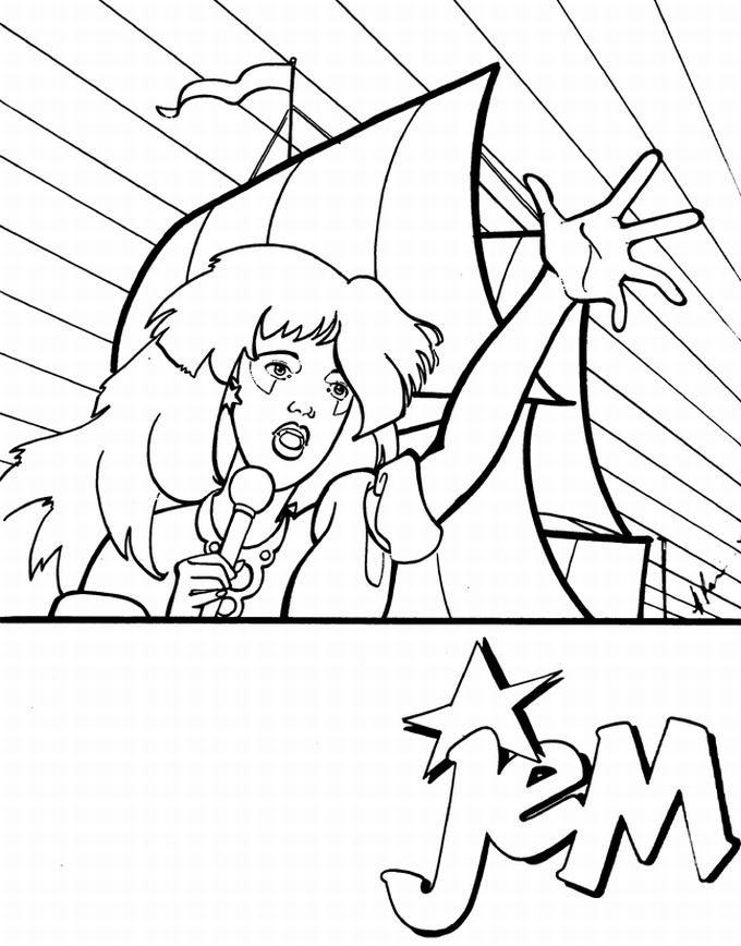 Free Coloring Pages Of Jem Jem Coloring Pages