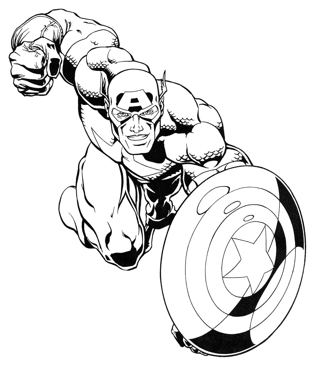 super heroes coloring pages - photo#2