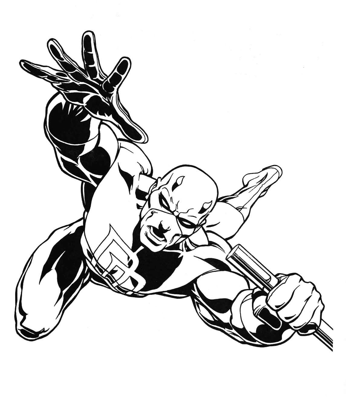 free printable daredevil coloring pages - photo#18