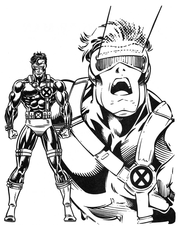 Ausmalbilder Marvel Helden: Marvel Super Heroes