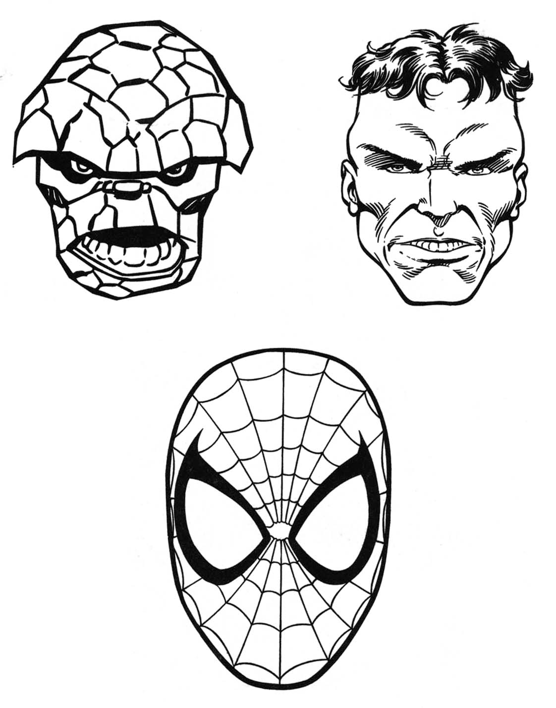 marvel superheroes coloring pages - photo#13