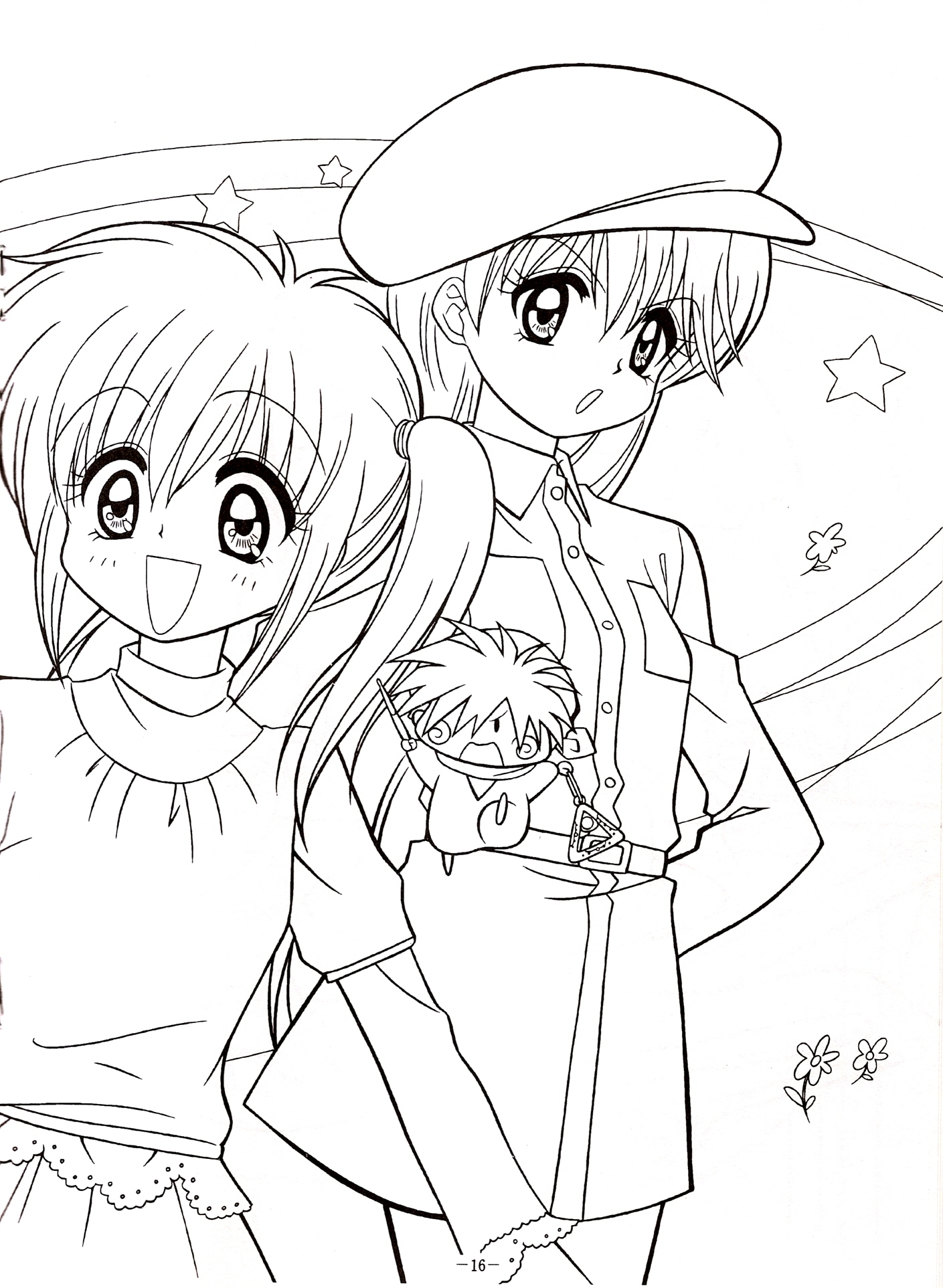 Print Anime Coloring Pages For Free And Printable Book Online