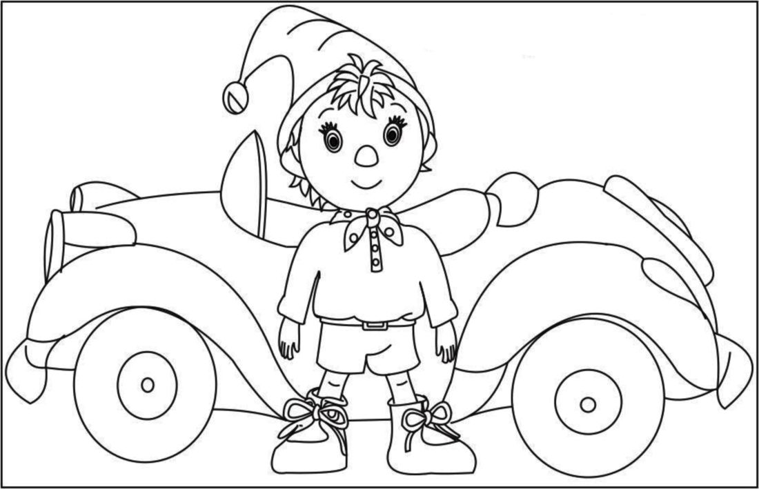 Make Way For Noddy Coloring Pages