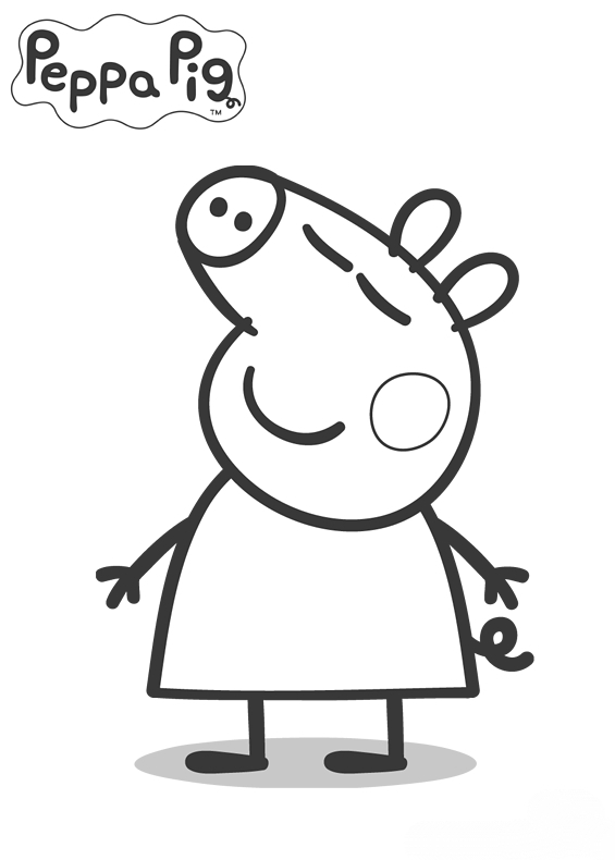 peppa pig para colorear. Dibujos para colorear  Fiesta Cumplea os Peppa Pig Decoraci n e ideas originales