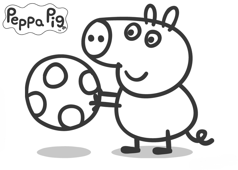 Peppa Pig Colouring Pages : Free peppa pig family coloring pages