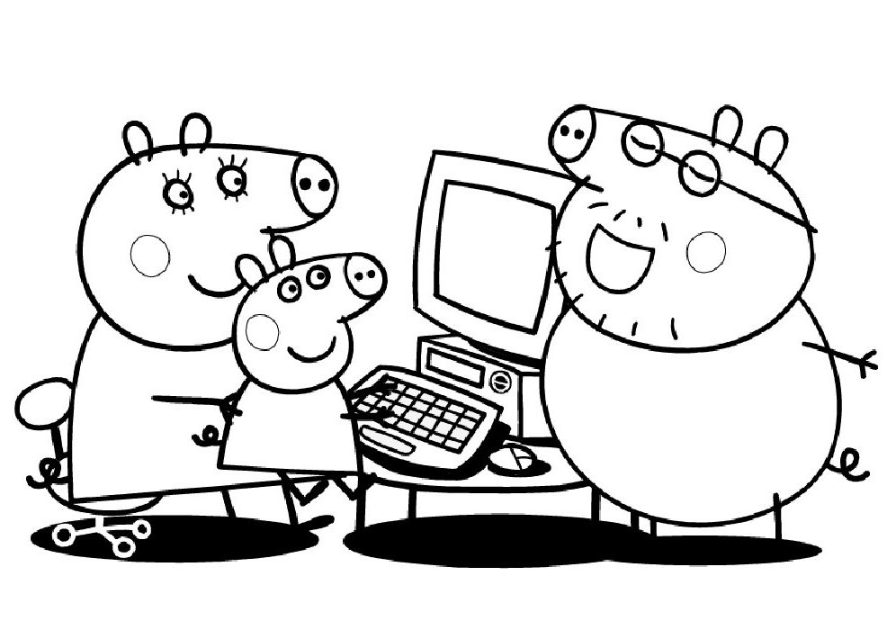 Immagini da colorare peppa pig for Coloring pages peppa pig