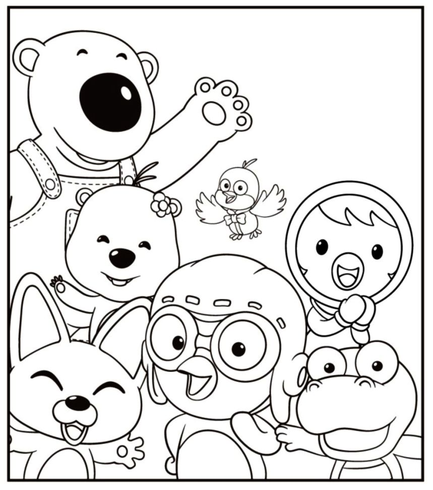 pororo coloring pages coloring book pororo