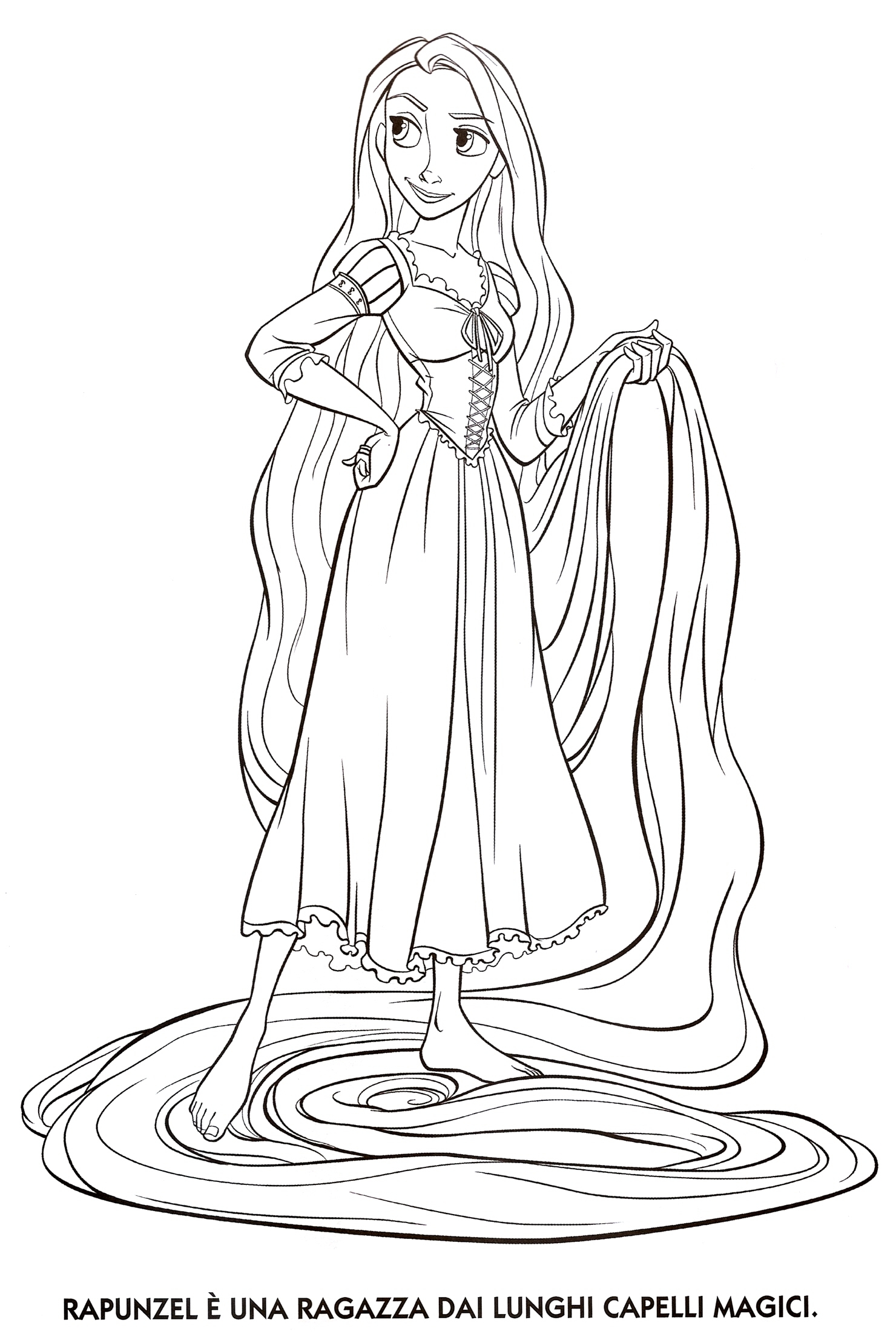 Free Coloring Pages Of Of Rapunzel