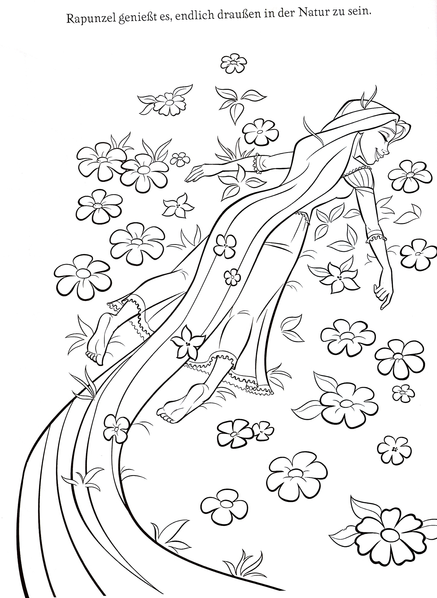 Coloring Pages Of Tangled Disney Printable Coloring Pages Tangled