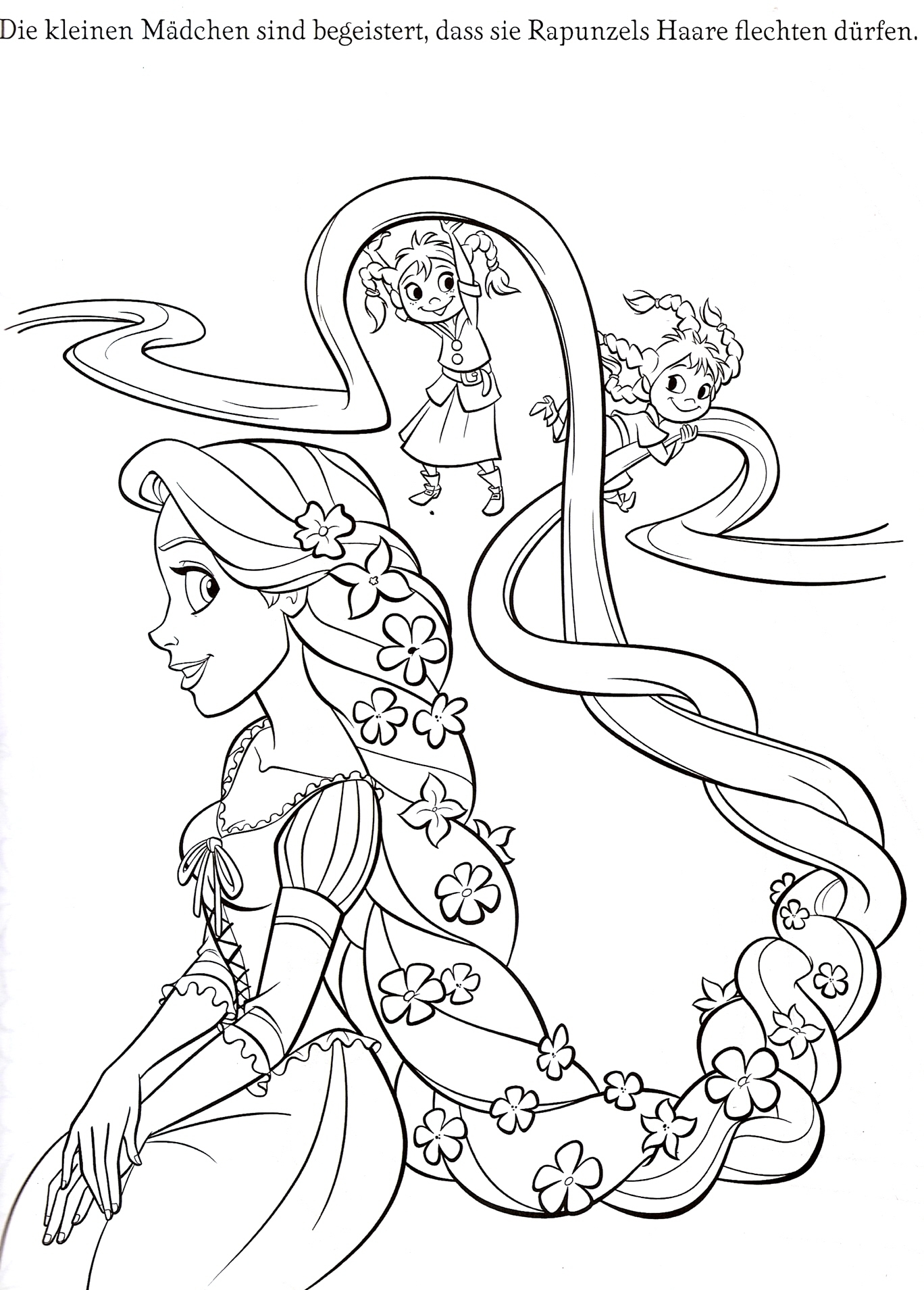 Coloring book rapunzel for Tangled coloring pages