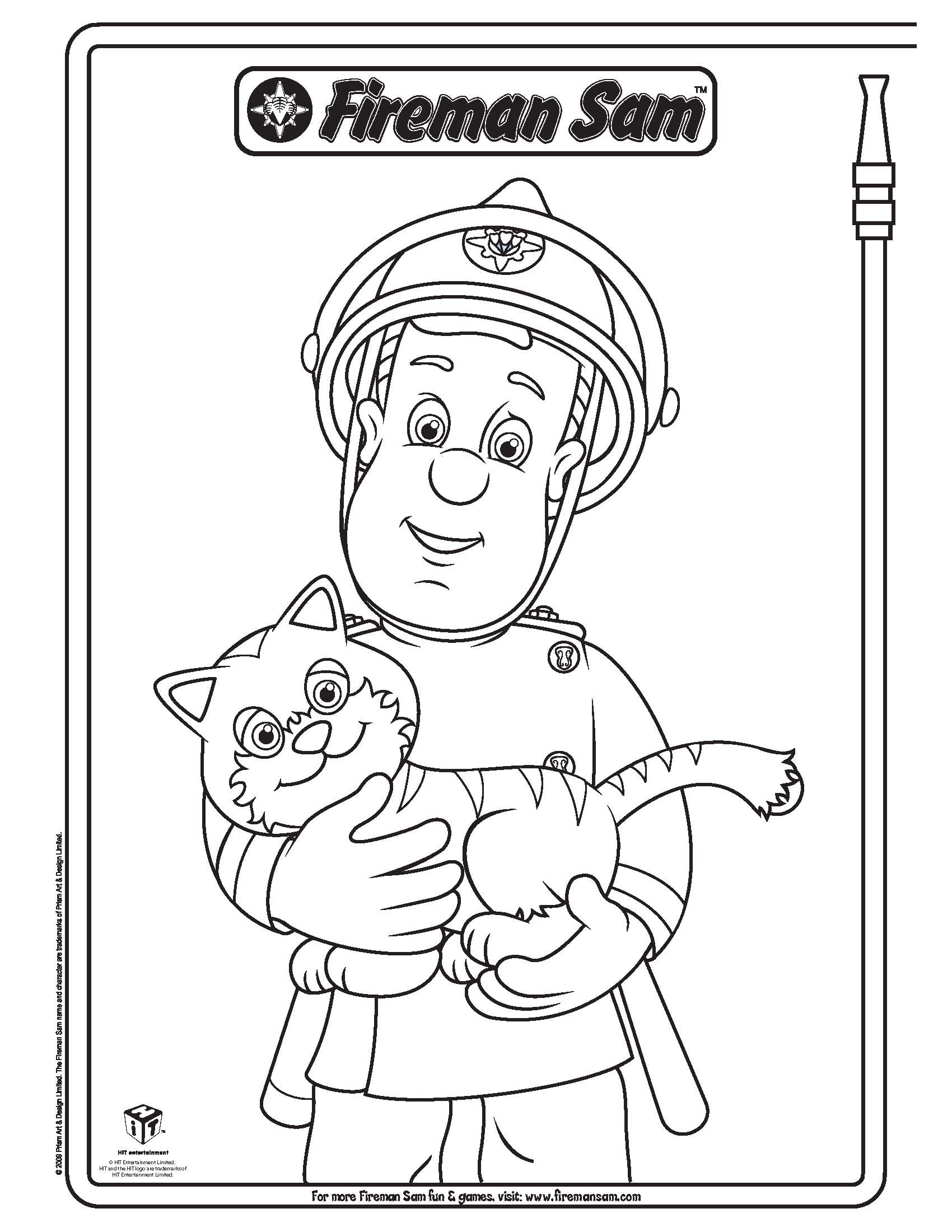 Coloring Book Sam Il Pompiere Fireman Sam Coloring Pages