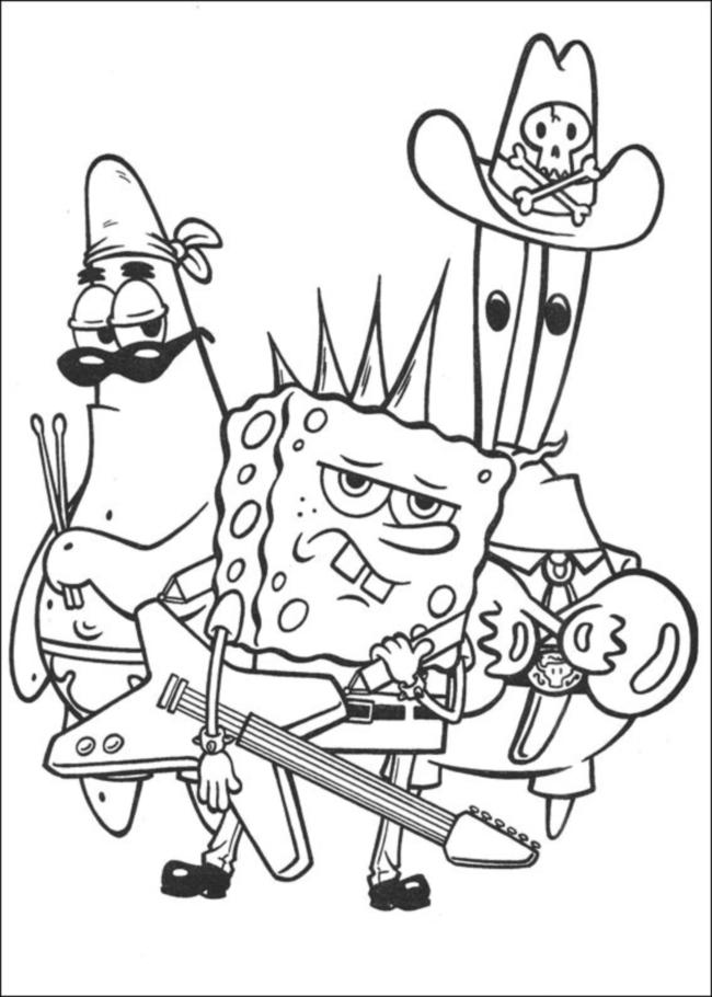 Coloring book Spongebob
