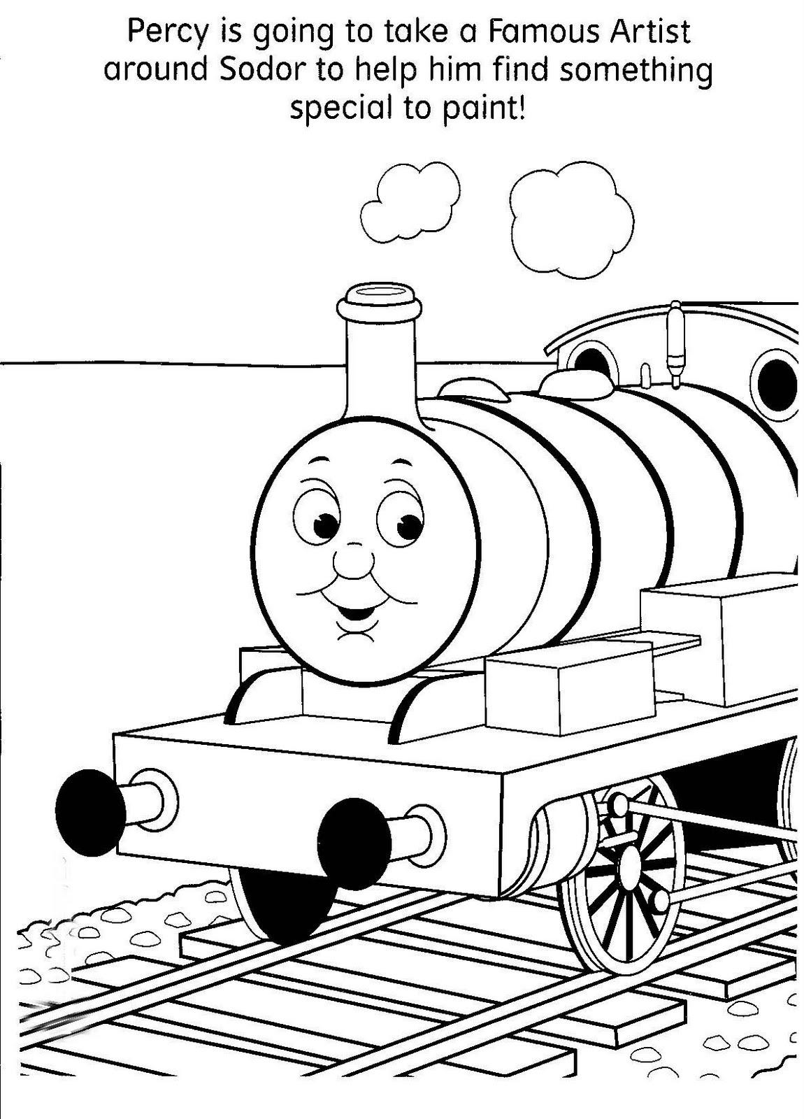 Coloring book - Il trenino Thomas