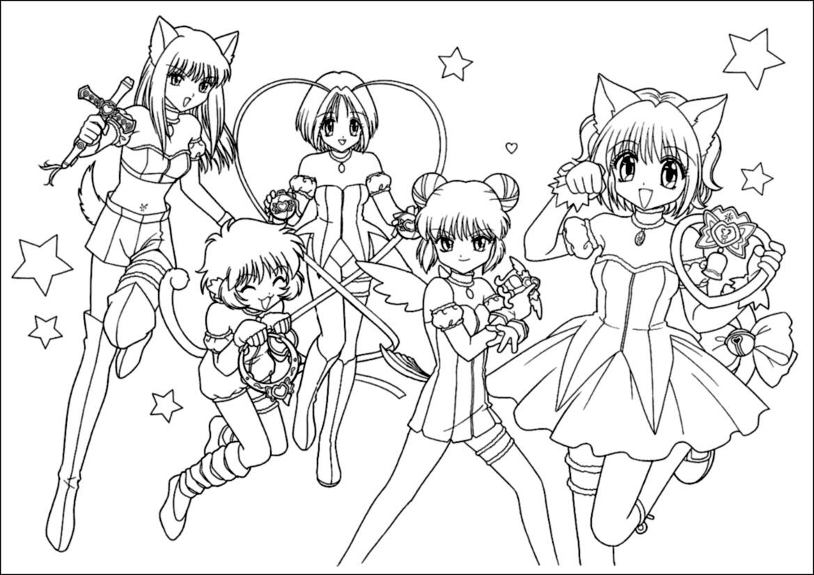 tokyo mew ichigo coloring pages - photo#30