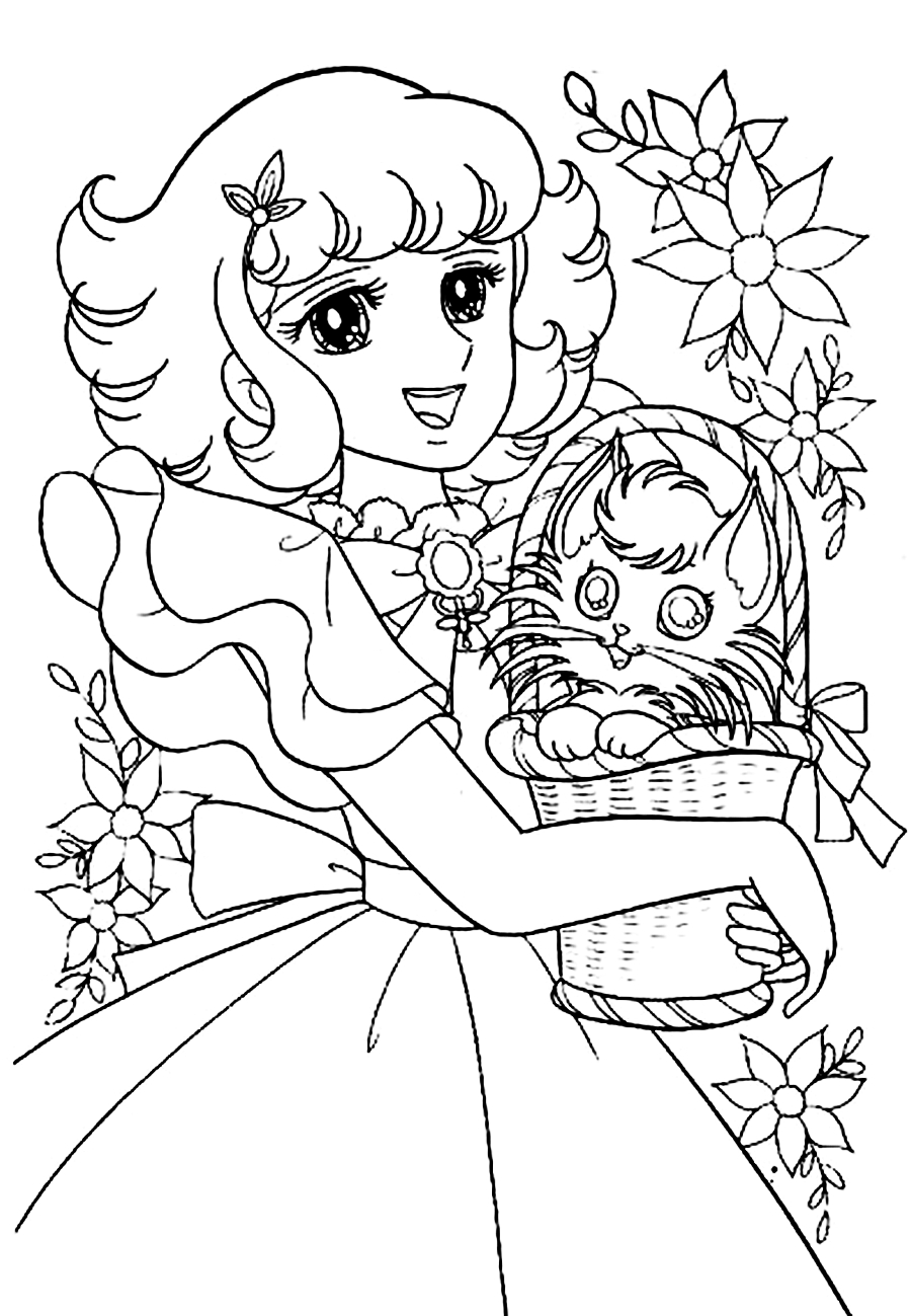 Pin By Mama Mia On Anime Amp Shojo Coloring Book Vintage Coloring Books Cute Coloring Pages