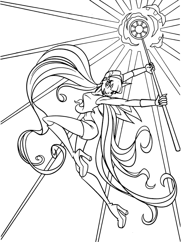 coloring pages com | Immagini da colorare - Winx