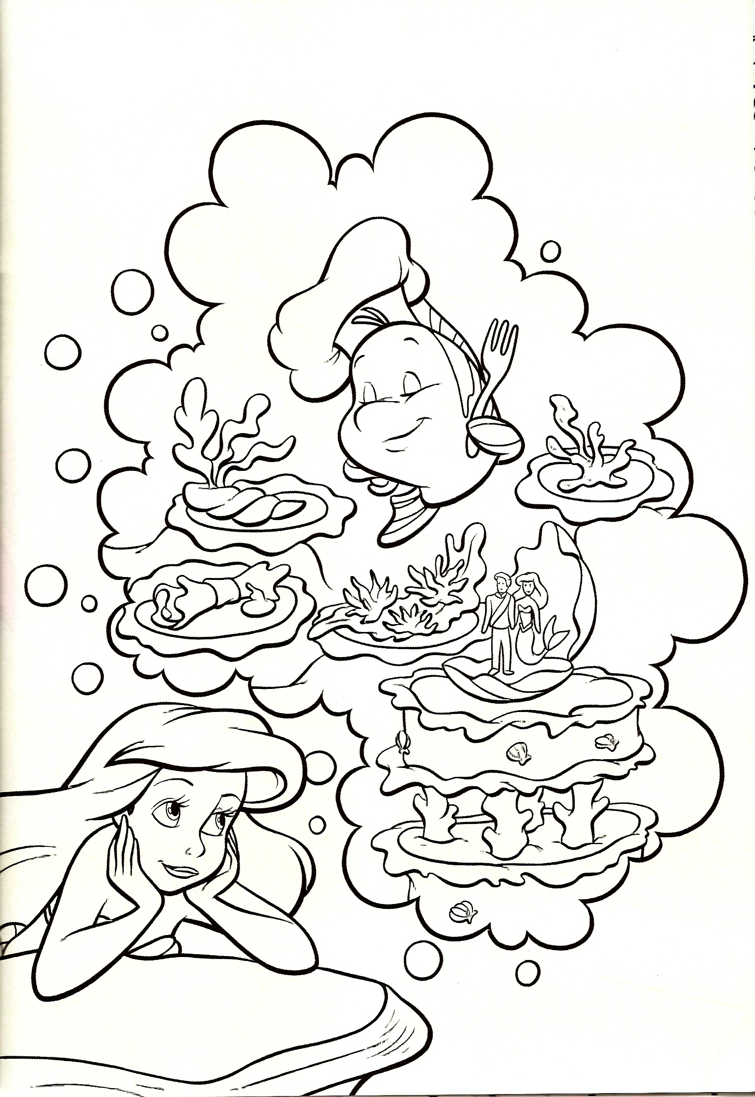 Disney Coloring Pages Little Mermaid
