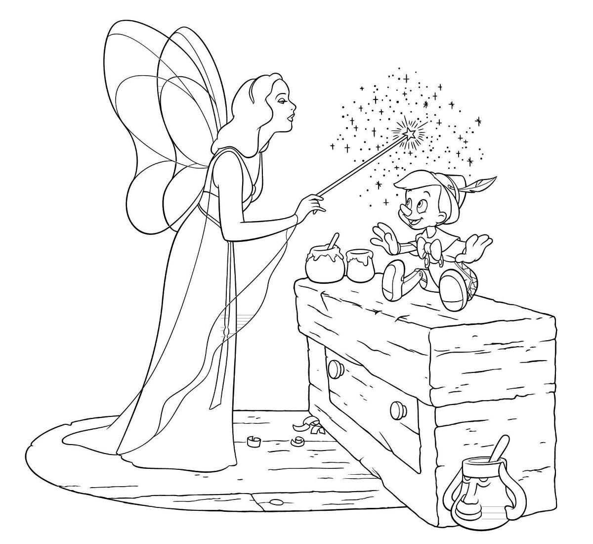 Pinocchio colorare for Pimpa da stampare e colorare