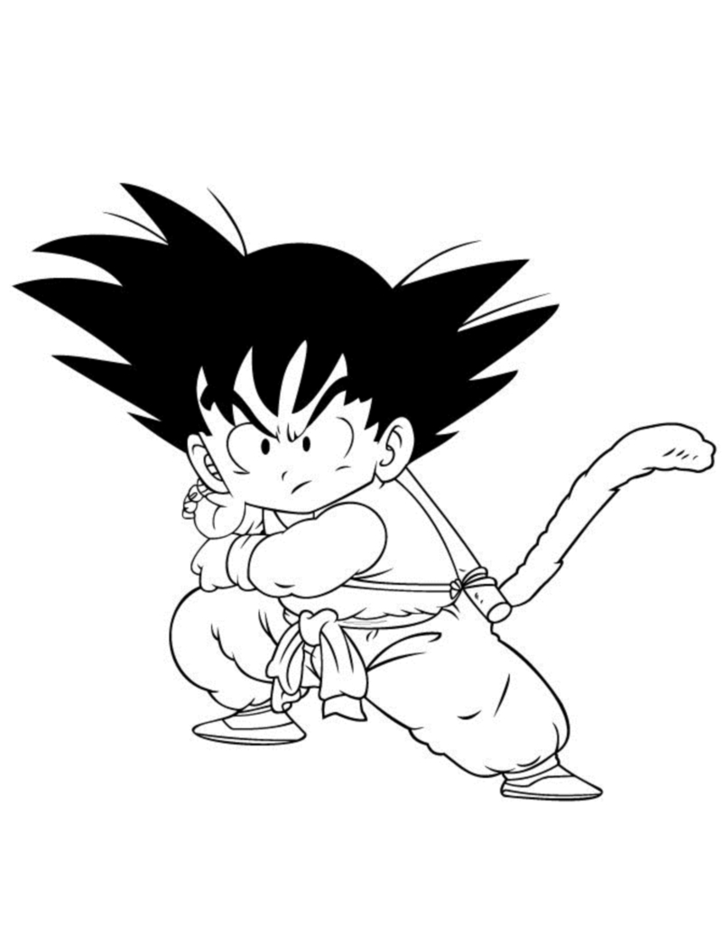 Dragonball immagini da colorare for Dbz coloring pages goku