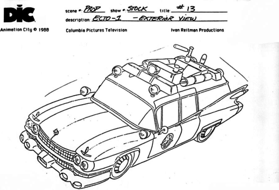 ghostbusters  model sheet