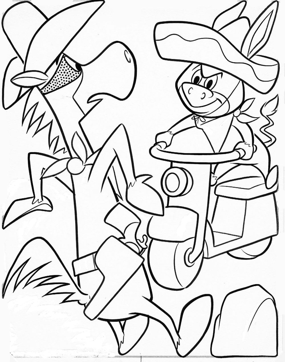 hanna barbera coloring pages - photo#3