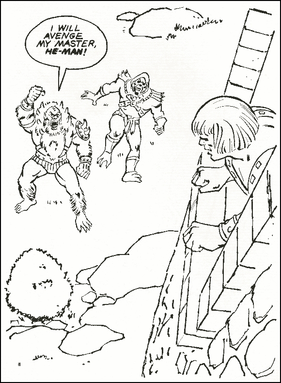 masters of the universe he man skeletor motu vintage coloring pages