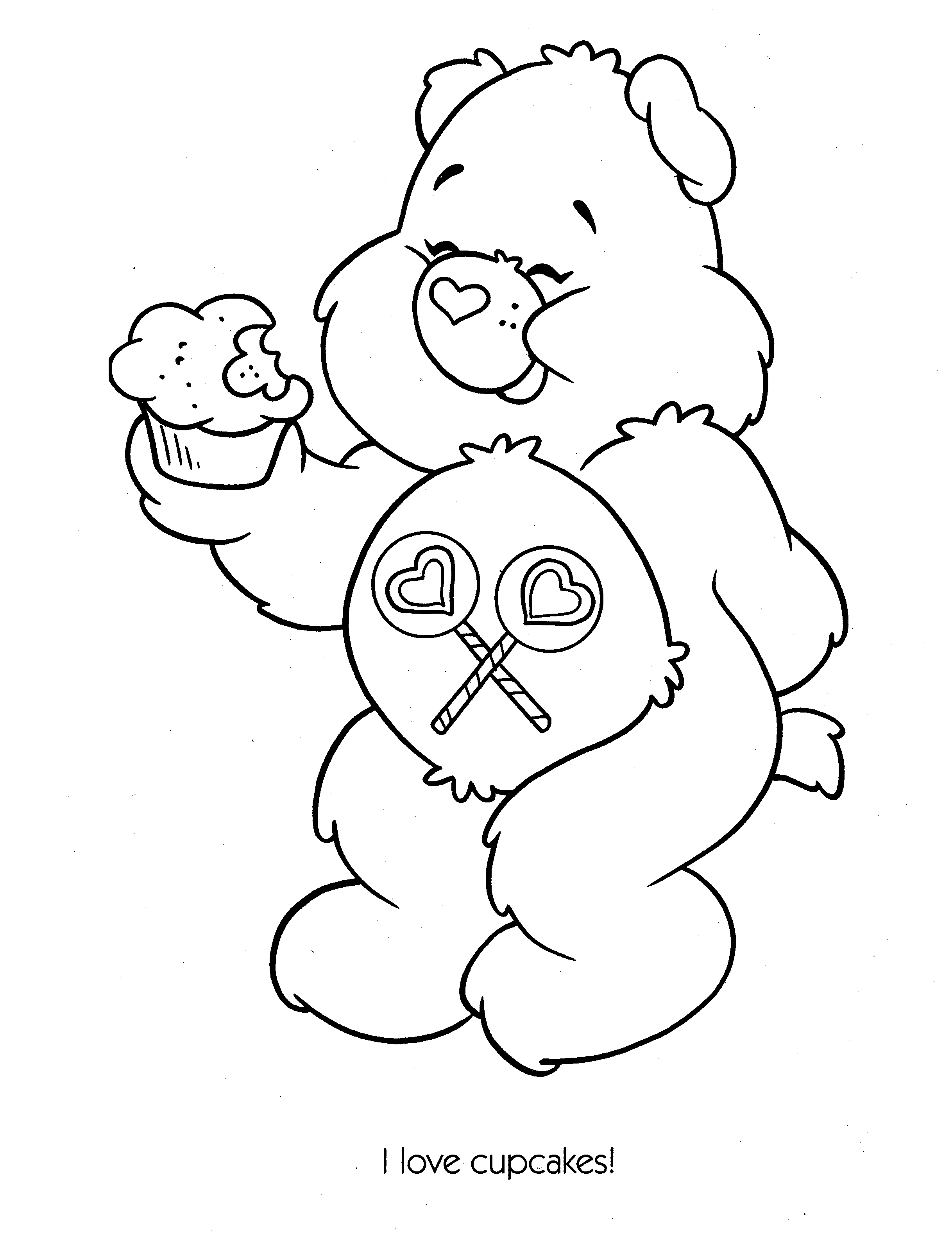 Holiday Coloring Pages care bear coloring pages : CareBears020.jpg