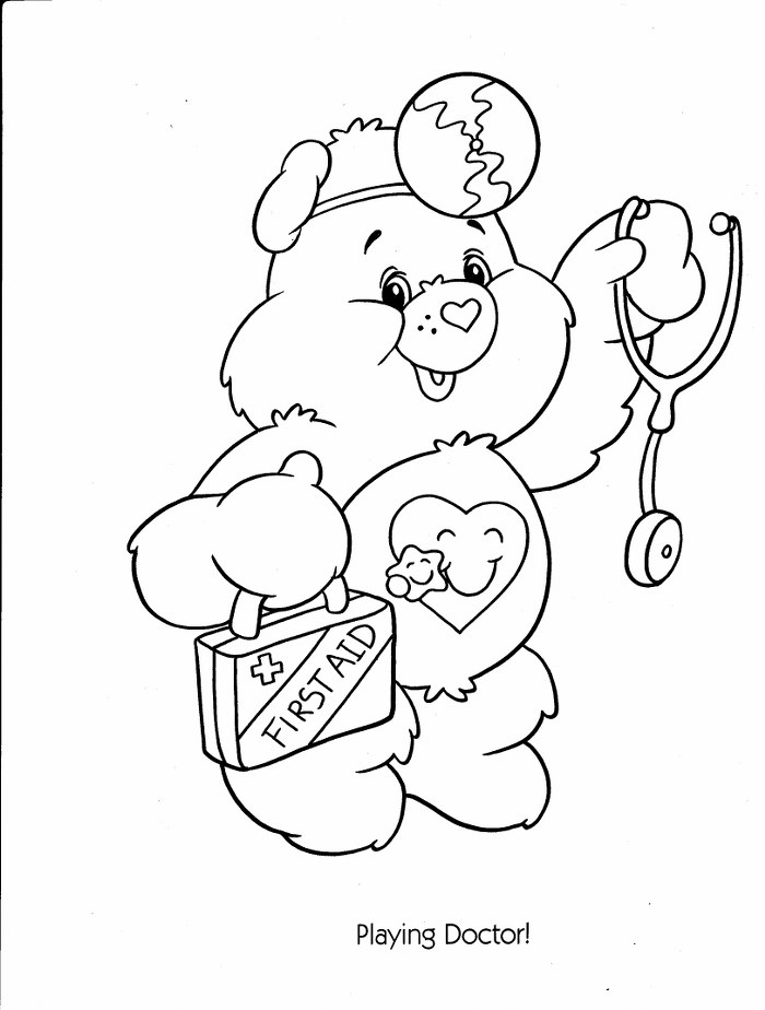 carebear cousin coloring pages - photo#25