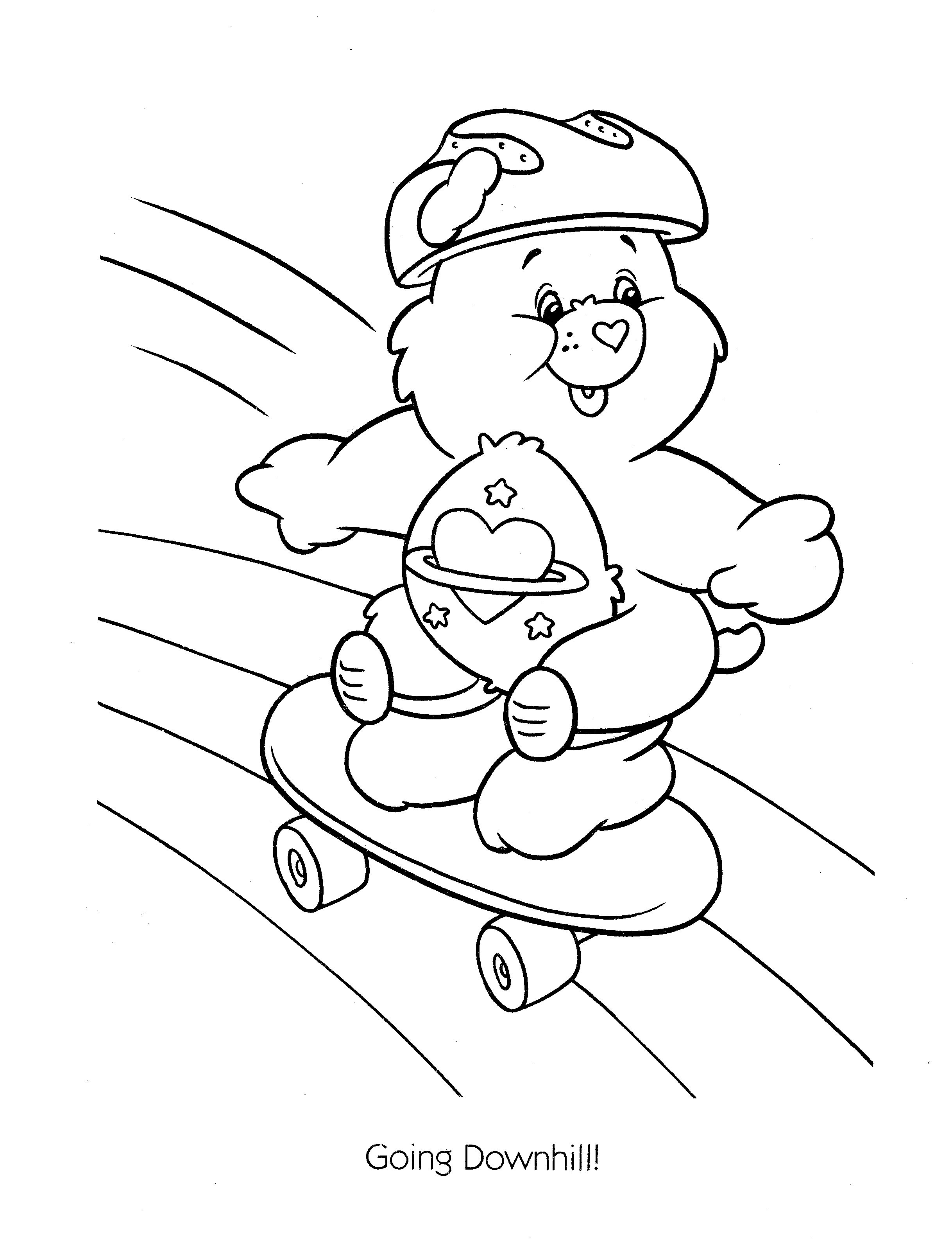 sad care bear coloring pages | Care Bear Coloring Pages On Cousins Penguin Sketch ...