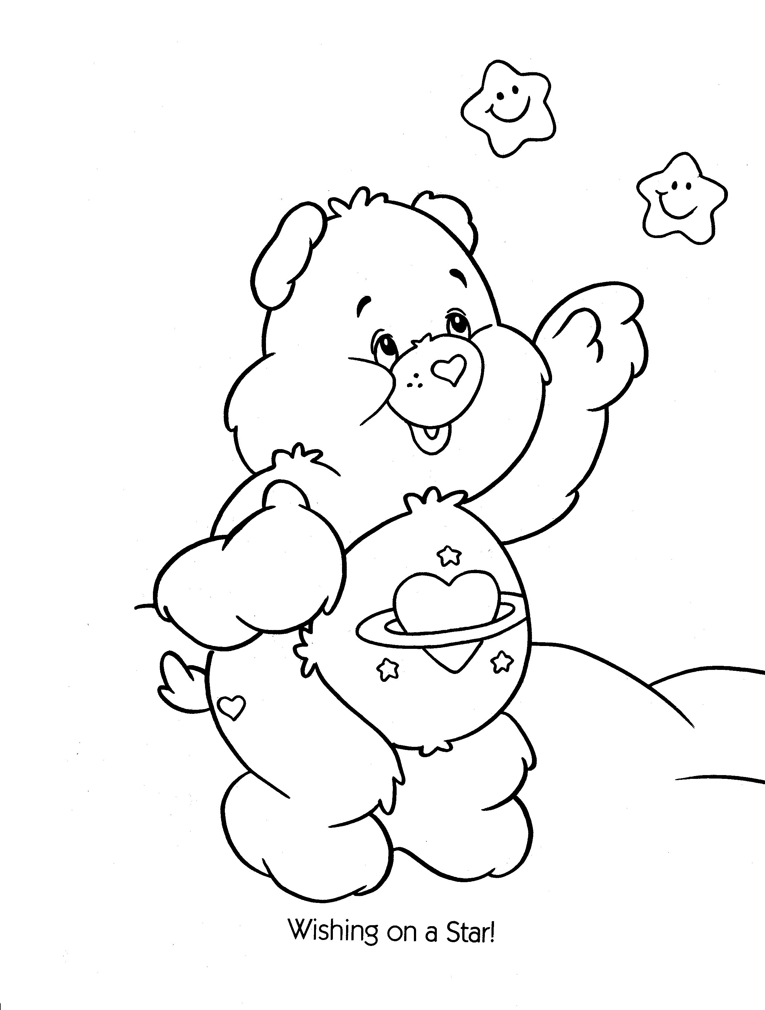 Orsetti del cuore immagini da colorare for Care bears coloring pages