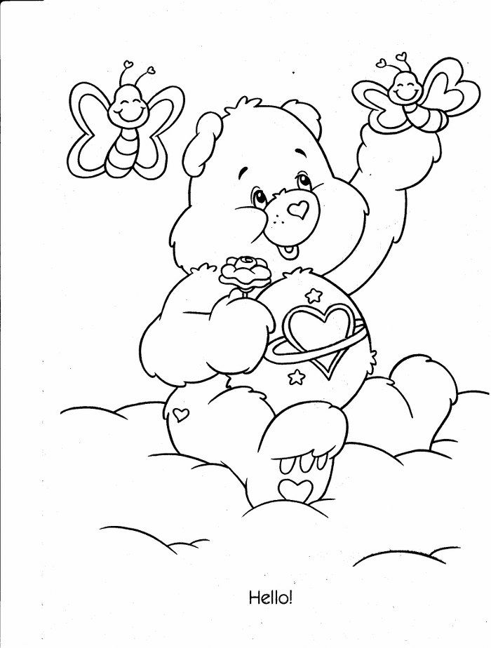 hugs and kisses coloring pages - photo#16