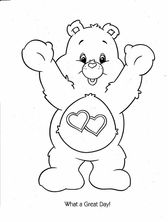 care bears coloring pages oopsy - photo#3