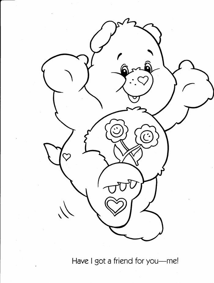 best care bear coloring pages - photo#22