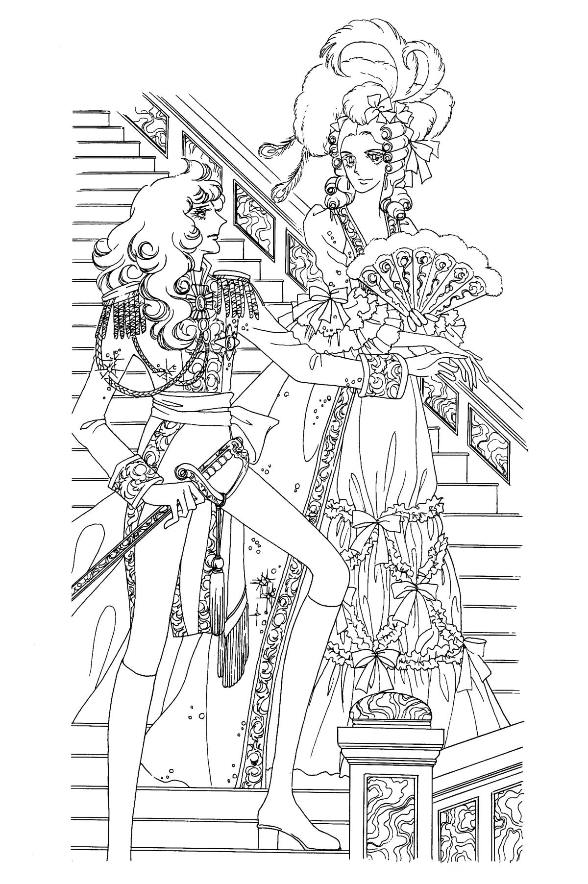 Lady oscar immagini da colorare - Immagini francesi da stampare ...