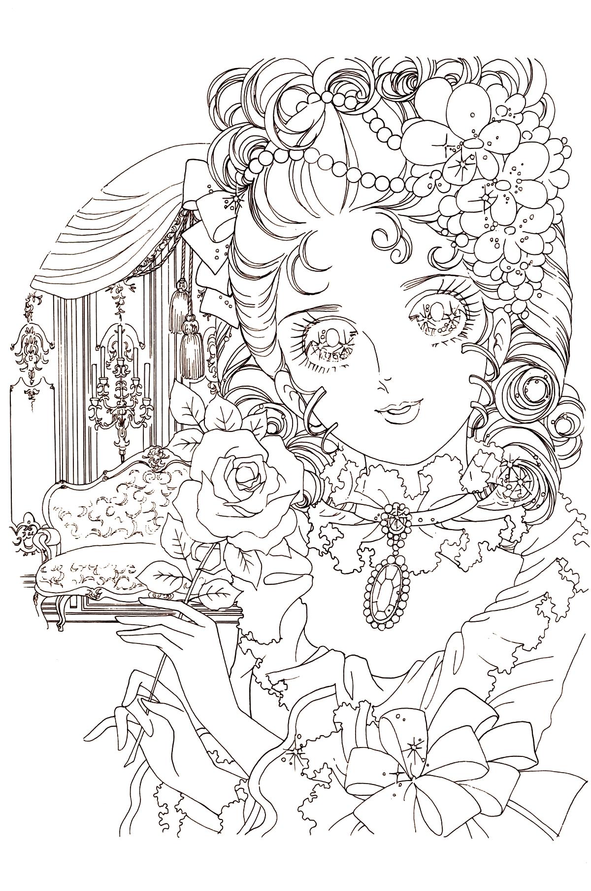 Lady Oscar Immagini da colorare