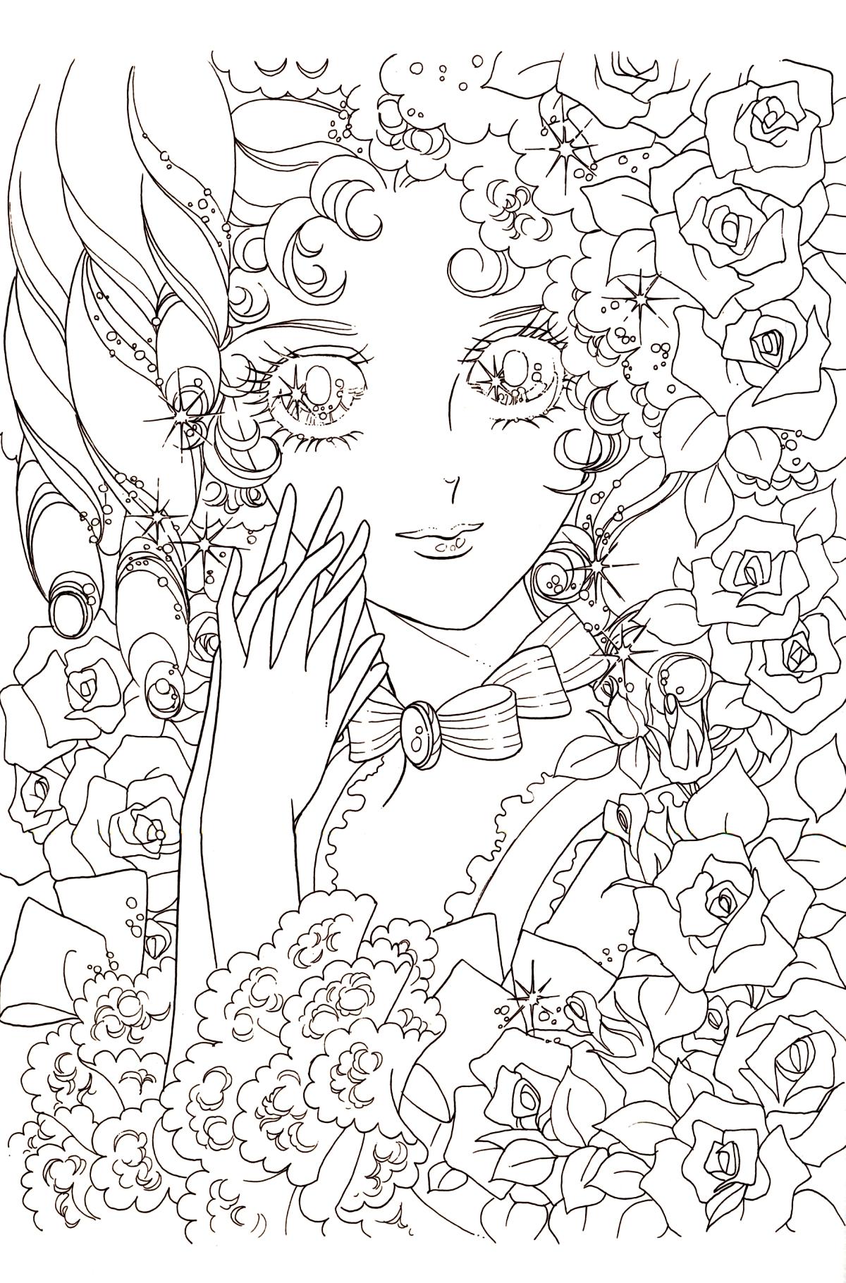 Lady oscar immagini da colorare - Immagini da colorare di rose ...