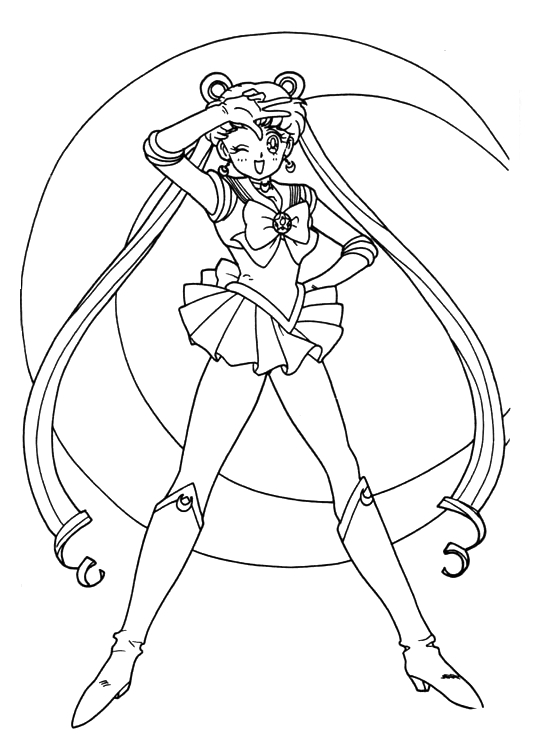 sailormoon online coloring pages - photo#18