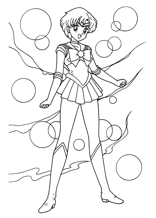 Sailor moon coloring book coloring pages for Coloring pages mercury