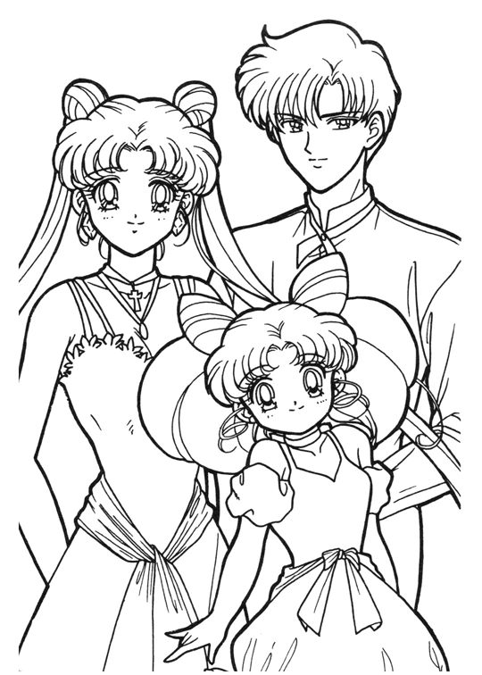 Sailor moon coloring book coloring pages for Coloring pages sailor moon